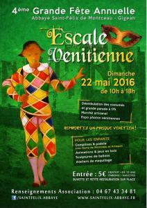affiche escale vénitienne Gigean 2016